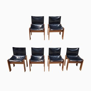 Monk Chairs by Tobia & Afra Scarpa for Molteni, 1974, Set of 6