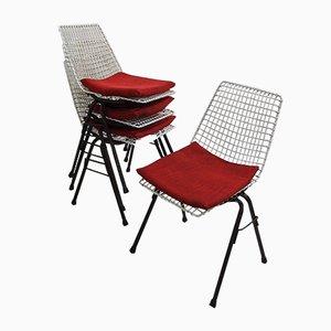 Polish Wire Garden Chairs by Henryk Sztaba for Zakład Produkcji i Usług Technicznych, 1970s, Set of 4