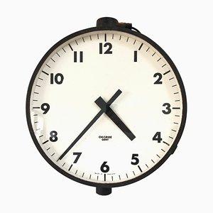 Reloj de pared industrial de ferrocarril de los señores negros de Leicester