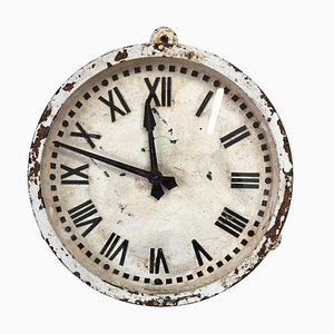 White Cast Iron Gents Of Leicester Factory Railway Wall Clock