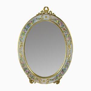 Specchio da tavolo ovale, anni '50