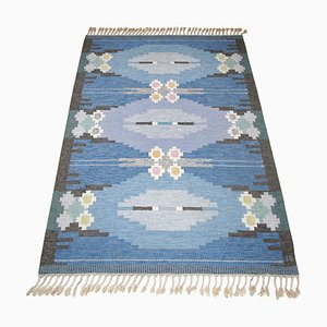 Mid-Century Swedish Röllakan Rug by Ingegerd Silow