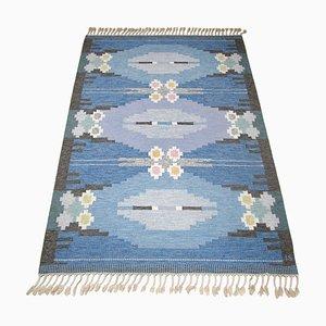Schwedischer Mid-Century Röllakan Teppich von Ingegerd Silow