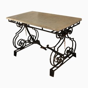 Vintage Iron and Metal Coffee Table