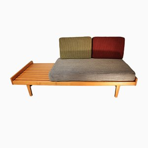 French Cherry Wood Sofa Bed by Pierre Paulin, 1956