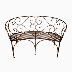 Antique Iron Garden Bench