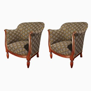 Art Deco Beech Armchairs, 1930s, Set of 2
