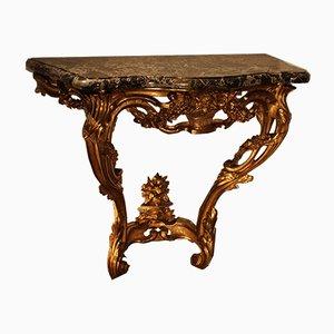 Antiker Konsolentisch aus vergoldetem Holz