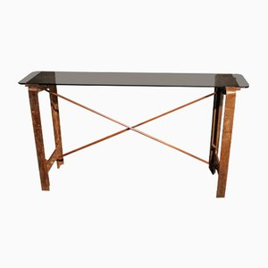 Table Console Industrielle en Fonte et Métal, 1930s