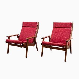 Lotus Sessel aus Teakholz von Rob Parry für De Ster Gelderland, 1958, 2er Set