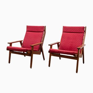 Teak Lotus Lounge Chairs by Rob Parry for De Ster Gelderland, 1958, Set of 2