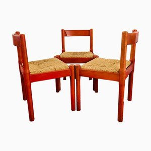 Italian Carimate Chairs by Vico Magistretti for Cassina, 1959, Set of 3