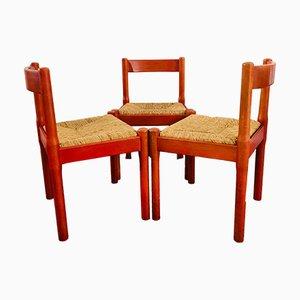 Italienische Carimate Stühle von Vico Magistretti für Cassina, 1959, 3er Set