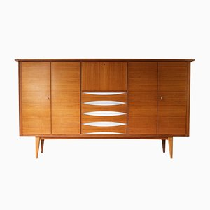 Vintage Walnut Highboard, 1950s