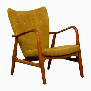 Danish Beech Adjustable Easy Chair by Madsen & Schübel, 1950s