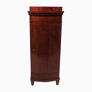 Antique Empire Danish Mahogany Pedestal Cabinet
