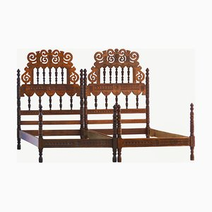 Mid-Century Twin Beds, 1950s, Set of 2
