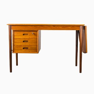 Danish Teak Extendable Desk by Erik Buch for Oddense Maskinsnedkeri, 1960s
