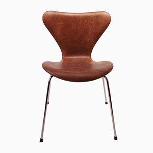 Dänische Modell 3107 Esszimmerstühle von Arne Jacobsen für Fritz Hansen, 1980er, 6er Set