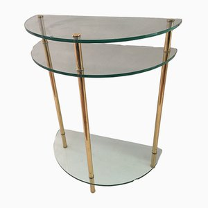 Demiline Brass & Glass Console Table