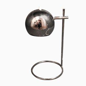 Lampada da tavolo in metallo cromato, anni '70
