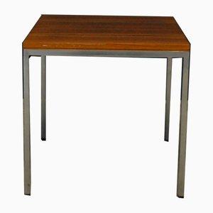 Tavolino da caffè Mid-Century in metallo e teak, anni '60