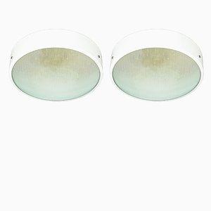 Plafonniers Convex Optiques, Italie, 1950s, Set de 2