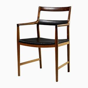 Dänischer Sessel aus Leder & Palisander von Helge Vestergaard Jensen für Peder Pederson, 1960er