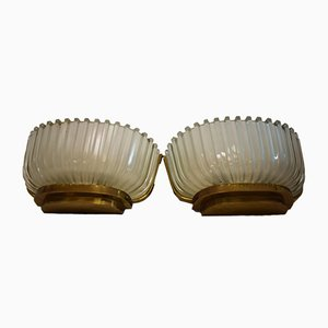 Art Deco Style Sconces by Archimede Seguso, 1940s, Set of 2
