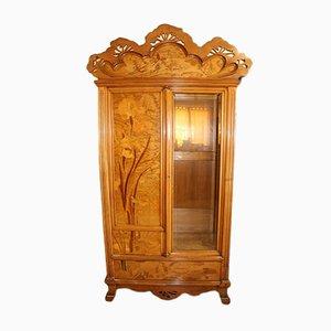 Antique Art Nouveau French Wooden Wardrobe by Emile Gallé
