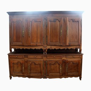 Antique French Oak and Wood Buffet