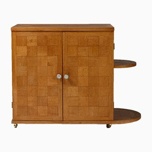 Mid-Century Swedish Oak Bar Cabinet, 1950s