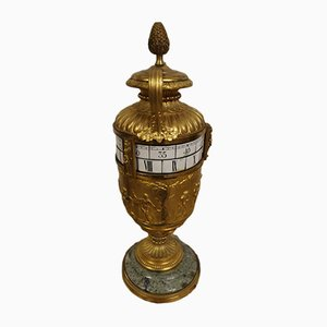 Vergoldete Pendeluhr aus Bronze, 19. Jh.