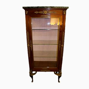 19th Century Empire Style French Mahogany Display Cabinet