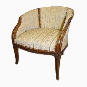 Antiker französischer Attacia Sessel im Jugendstil von Louis Majorelle