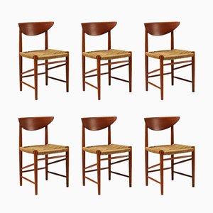 Danish Dining Chairs by Peter Hvidt & Orla Mølgaard-Nielsen for Søborg Møbelfabrik, 1950s, Set of 6