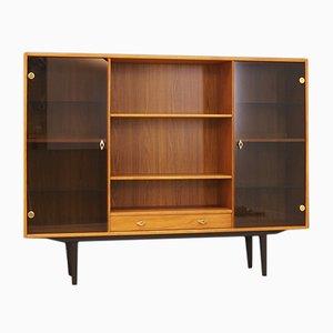 Mid-Century Danish Teak Veneer Display Cabinet, 1960s