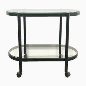 Mid-Century Glass and Steel Trolley, 1960s