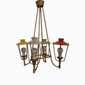Lámpara de araña italiana vintage, 1952