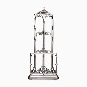 Antique Coalbrookdale Style Cast Iron Hall Stand