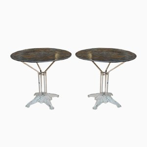 Round Art Deco French Bistro Table, 1920s