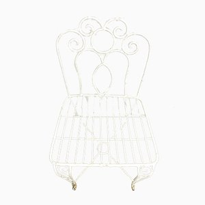 Sillas de jardín francesas Mid-Century de metal, años 60. Juego de 2