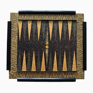 Mesa de backgammon, años 80