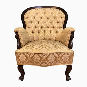 Antique Biedermeier Style Lounge Chair