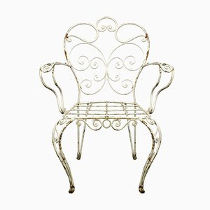 Sedie da giardino Mid-Century in metallo, anni '60, set di 4