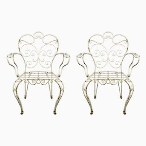 Mid-Century Metal Garden Chairs, 1960s, Set of 2