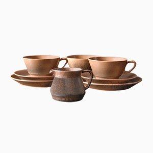 Dänisches Keramikgeschirr von Johannes Hansen für Noddebo Knabstrup, 1960er
