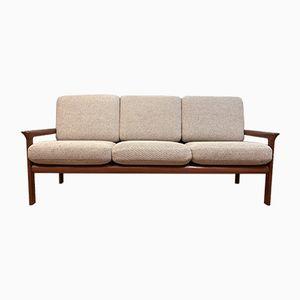 Dänisches 3-Sitzer Sofa mit Wollbezug & Gestell aus Teak von Sven Ellekaer für Komfort, 1960er