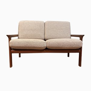Dänisches 2-Sitzer Sofa mit Wollbezug & Gestell aus Teak von Sven Ellekaer für Komfort, 1960er