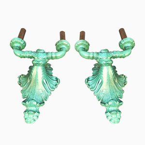 Mid-Century French Ceramic Sconces, Set of 2
